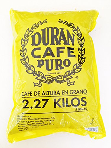 Cafe Duran Best Panama Coffee Highest Quality Whole Roasted Beans Coffee Duran 2.27kg (5 Pounds) Whole Bean Coffee by Cafe Duran (Image #9)
