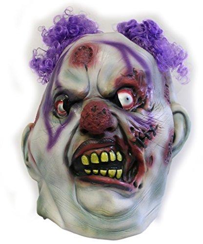 [Forum Novelties Deluxe Latex Zombie Clown Mask] (Icp Clown Costume)
