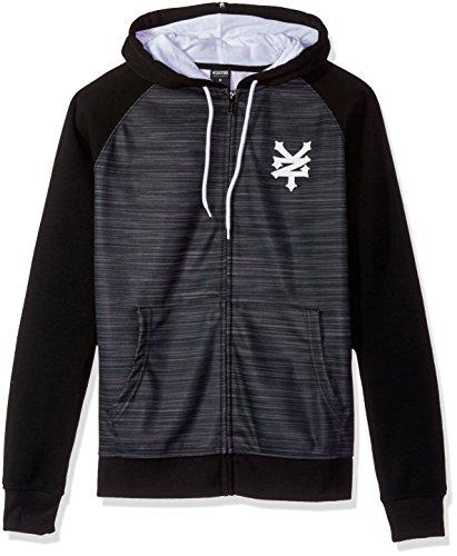 Basic Full Zip Hoody Sweatshirt (Zoo York Men's Long Sleeve Zip up Hoodie, Capital Black, Medium)