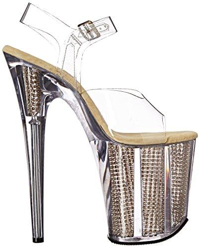 Sandales Srs Flamingo Pleaser 808srs gold Plateforme Femme Clr Pwd0qEd