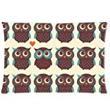 Custom Cartoon Lovely Owl Rectangle Soft Pillow Case Standard Size 20x30
