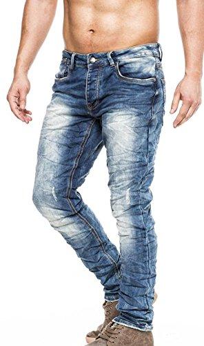 Fashionflash Vaquero Hombre Jeans para Azul TZxTrwa