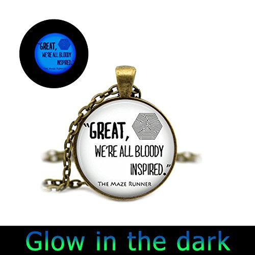 Glowlala glow in the dark necklace THE MAZE RUNNER Quote glowing Pendant Necklace (3)