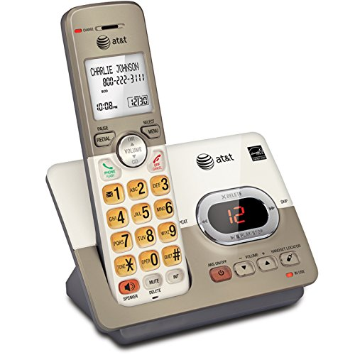 (AT&T EL52113 Single Handset Expandable Cordless Phone with Answering System & Extra-Large Backlit Keys)