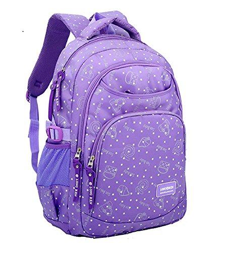 Eshops Girls Backpack for School Bookbag for College Daypack Book Bags Purple