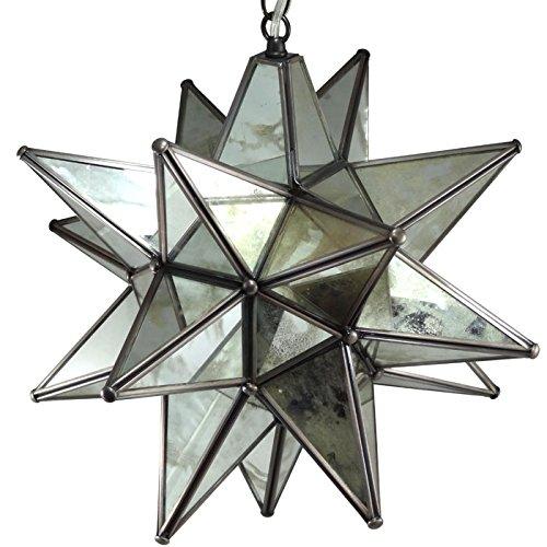 Moravian Pendant Light Antique Mirrored