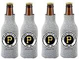 MLB Pittsburgh Pirates Glitter Bottle Suit Koosie (Pack of 4)