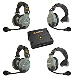 Eartec COMSTAR XT Full Duplex Wireless Intercom System with All-in-One Headsets (4 Person)