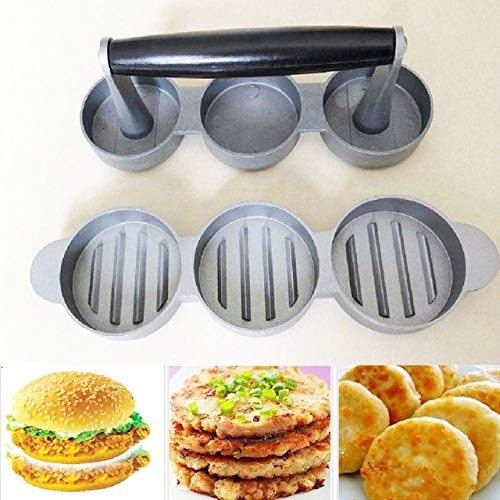 BeesClover Weston Non-Stick Mini Hamburger Burger Ground Meat Sausage Patty Press Maker Show