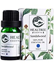 HEALTREE Sandalwood Essential Oil 10ml (100% Pure & Natural Australian Single Ingredient)| Perfect for Aromatherapy, Skin Care, Moisturizing, Calming, Anxiety, Sleep | ISO Analysis Attached