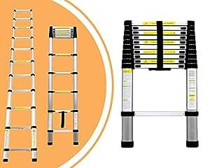 Leogreen escalera telesc pica escalera extensible 3 2 for Escalera de aluminio extensible 9 metros