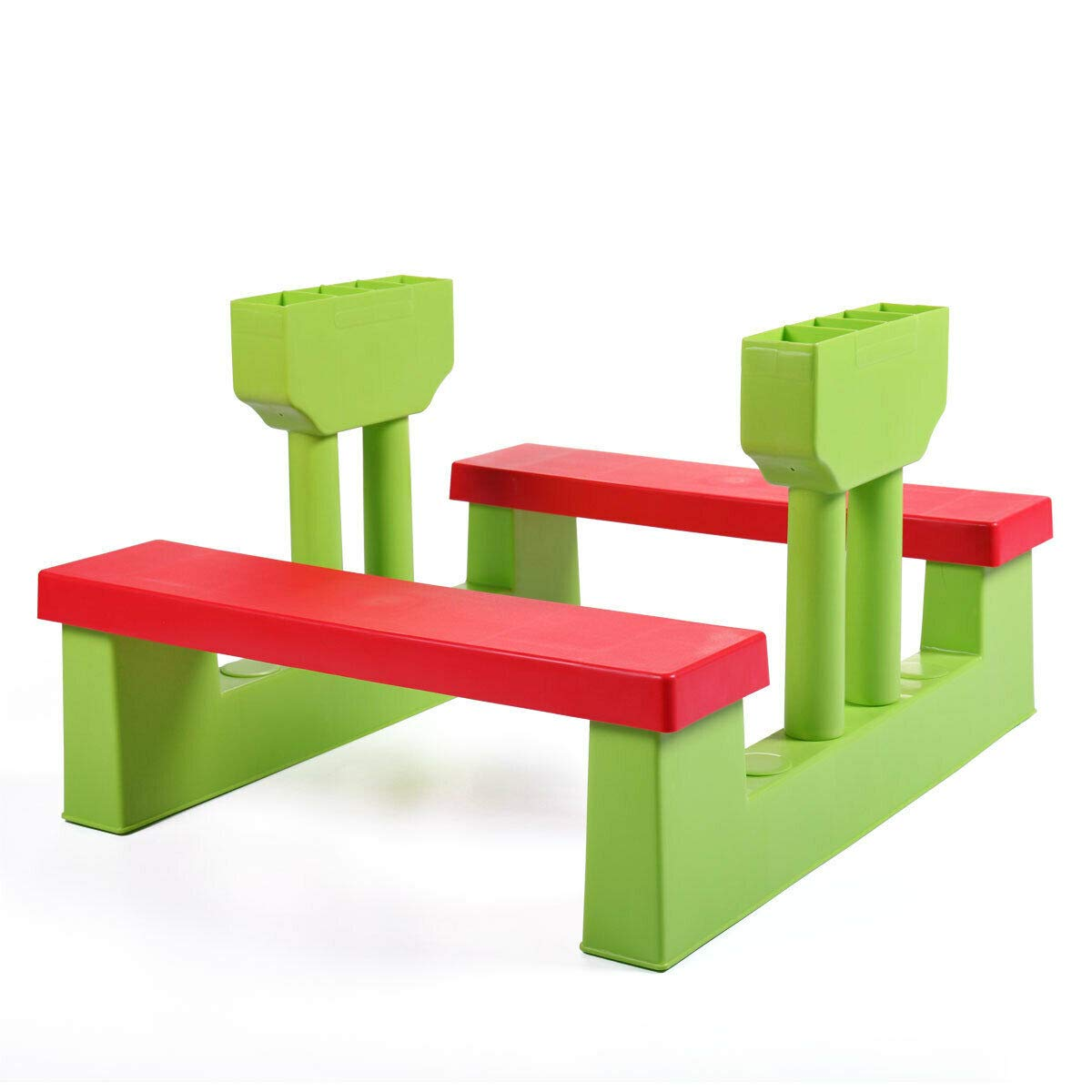 ARABYAN BROTHERS 4 Seat Kids Picnic Table w/Umbrella Garden Yard Folding Children Bench Outdoor, Outdoor Play Table Patio Furniture by ARABYAN BROTHERS