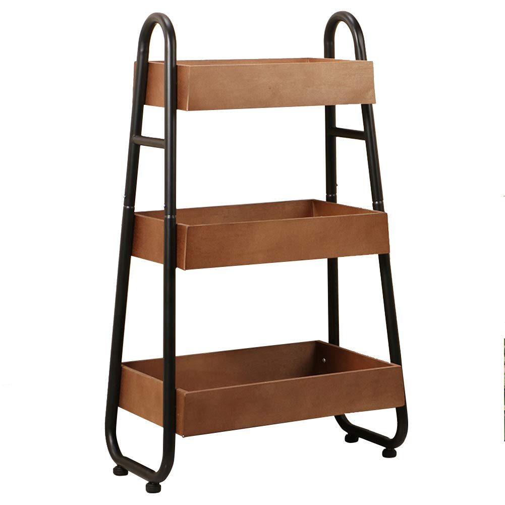 Multi-Function Storage Rack, 3-Layer Floor Wine Rack, Kitchen Rack, Bathroom Living Room Storage Rack, 18.3710.0229.72in by Kitchen shelf