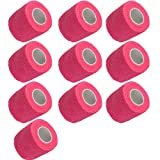 Etopars 10 X Self Adhesive Cohesive Wrap Bandages Strong Elastic First Aid Tape Pink for Wrist Ankle Sport 2'' X 5 Yards
