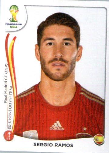 Panini Pegatina de la Copa Mundial de Fútbol 2014# 111 Sergio Ramos Team España: Amazon.es: Deportes y aire libre