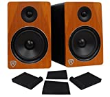 Pair Rockville APM8C 8'' 2-Way 500 Watt Powered USB Studio Monitor Speakers+Pads