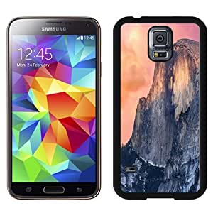 Beautiful Unique Designed Samsung Galaxy S5 I9600 G900a G900v G900p G900t G900w Phone Case With OS X Yosemite Cliff_Black Phone Case