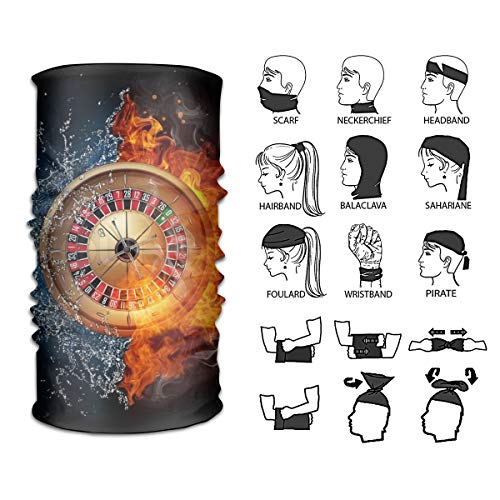 Magic Casino Roulette in Water and Fire Isolate Headband Headscarf Neck Gaiter for Outdoor