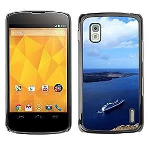 TopCaseStore / la caja del caucho duro de la cubierta de protección de la piel - Nature Beautiful Forrest Green 92 - LG Google Nexus 4 E960
