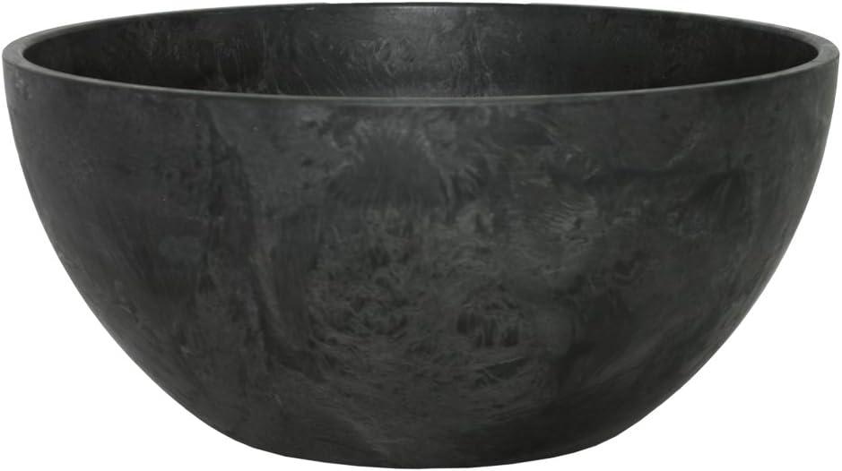 Ivyline Artstone Maceta para Flores Jardinera Fiona, Resistente a Las heladas y Ligera, Negro, 31x15cm
