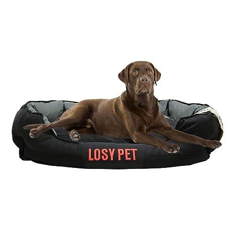 LOSY PET Cómodo Casa para Mascotas Cama para Perros Perrera con Cojín Extraíble Sofá Impermeable y