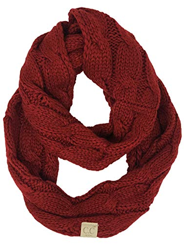 SK-6847-42 Kids Infinity Scarf - Solid Red