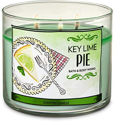 (Bath and Body Works White Barn Key Lime Pie 3 Wick Candle 14.5 Ounce)