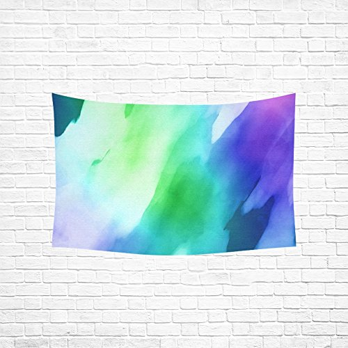 (XINGCHENSS Tapestry Watercolour Watercolor Paint Ink Blend Blue Stain Hippie Tapestries Wall Hanging Flower Tapestry Wall Hanging Dorm Decor For Living Room Bedroom 60 X 40 Inch)