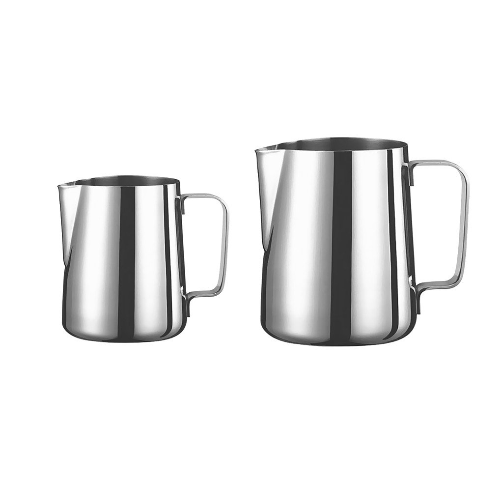 MagiDeal 2pcs Kitchen Home Craft Coffee Latte Milk Frothing Jug Stainless Steel