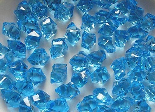 LongBang Acrylic Clear Ice Rocks Cubes 300g/bag, Vase Filler or Table Decorating Idea (Aqua Blue) for $<!--$6.00-->