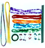 Stocking Flower Making. Diy Kit, Includes, 10 Long Stockings, Heavy & Strongly Golden & Multi. Colour Wires 18 Each. 10 Pibs, 1 Green Tape, 12 Green Wires