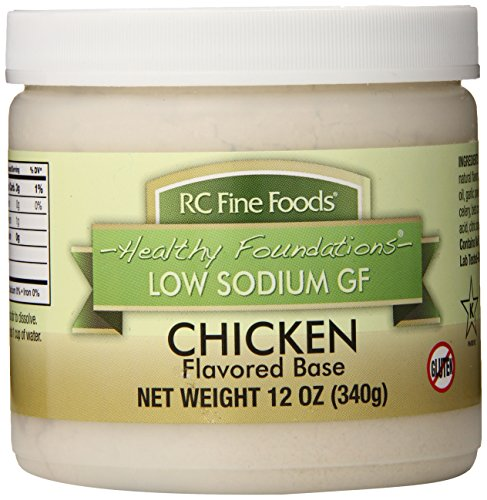 Low Sodium Soup Base - RC Fine Foods Healthy Foundations Low Sodium Gluten-Free Base, Chicken, 12 Ounce
