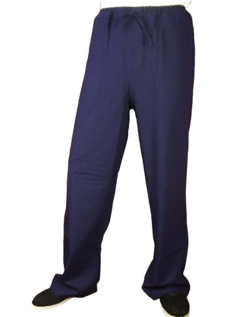 100% Cotton Blue Kung Fu Martial Arts Tai Chi Pant Trousers XS-XL or Tailor Custom Made + Free Magazine