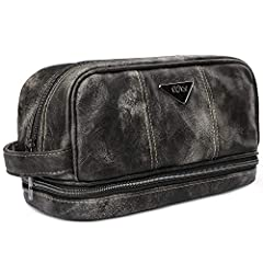 TOILETRY BAG by LVLY              This high-end travel bag features a large zippered compartment for storing your toiletry essentials, a 2nd large zippered pouch underneath the main pocket for your toothbrush and toiletries containers,...