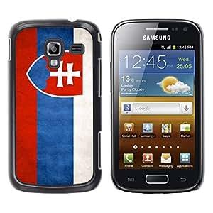 Paccase / SLIM PC / Aliminium Casa Carcasa Funda Case Cover - National Flag Nation Country Slovakia - Samsung Galaxy Ace 2 I8160 Ace II X S7560M