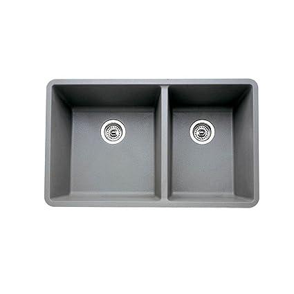 Blanco 441130 16 Inch Précis 1 3/4 Bowl Sink, Gray