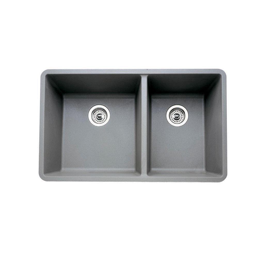 Blanco 441130 16-Inch Précis 1-3/4 Bowl Sink, gray