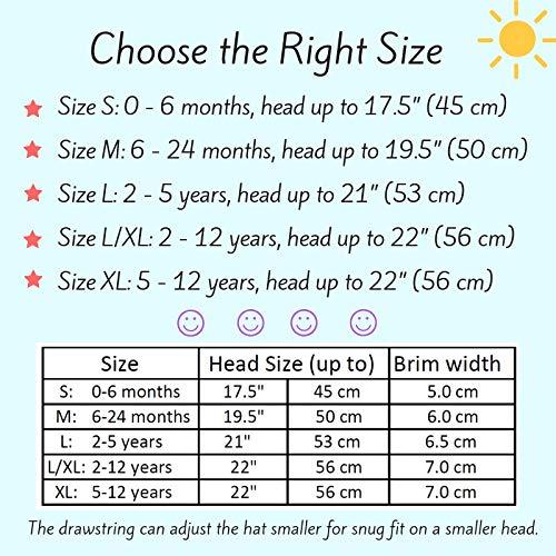 Drawstring Adjustable Stay-on Chin Strap Jan /& Jul Kids Foldable Summer Sunhat 50 UPF L//XL: 2-12Y, Floppy Hat: Grey Tiny Argyle