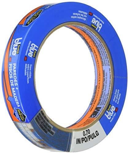 3M 2080EL-18E Scotch 2080 Safe-Release Painters Masking Tape, 60 yd. Length x 3/4 Width, Blue