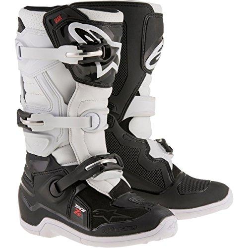 Alpinestars Unisex-Child Tech 7S Youth Boots (Black/White, Size 7)