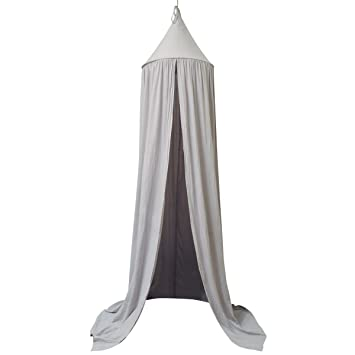 Dome Princess Bed Canopy for Baby Kids Reading Play Tents Cotton Canvas Height 7.2u0027 Grey  sc 1 st  Amazon.com : kids play canopy - memphite.com