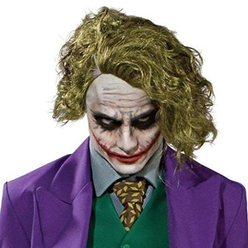 [Mememall Child Joker Wig Dark Knight Ledger Movie Boys Halloween Costume] (Joker Costumes Kids)