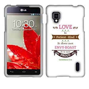 Fincibo (TM) Protector Cover Case Snap On Hard Plastic Front And Back For LG Optimus G LS970 Eclipse - Corinthians 13-4