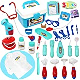 electronic doctor - Joyin Toy Doctor Kit 31 Pieces Pretend-n-Play Dentist Medical Kit with Electronic Stethoscope and Coat for Kids Holiday Gifts, School Classroom, Easter Stuffers and Doctor Roleplay Costume Dress-Up.