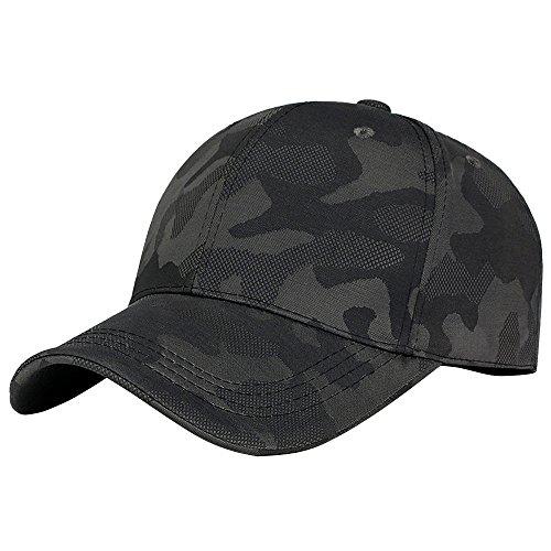 Kimloog Men Women Camouflage Baseball Cap Low Profile Adjustable Sun Hat (Green) ()