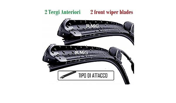 RMG # 7 par 2 escobillas limpiaparabrisas delanteras para Clio Kombi ...