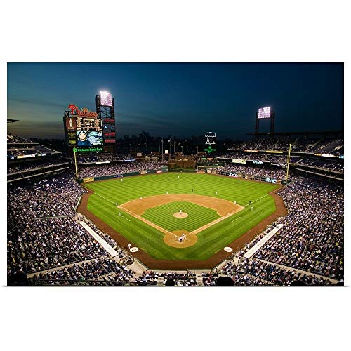 (GREATBIGCANVAS Poster Print Entitled Panoramic View of 29,183 Baseball Fans at Citizens Bank Park, Philadelphia, PA by Panoramic Images 18