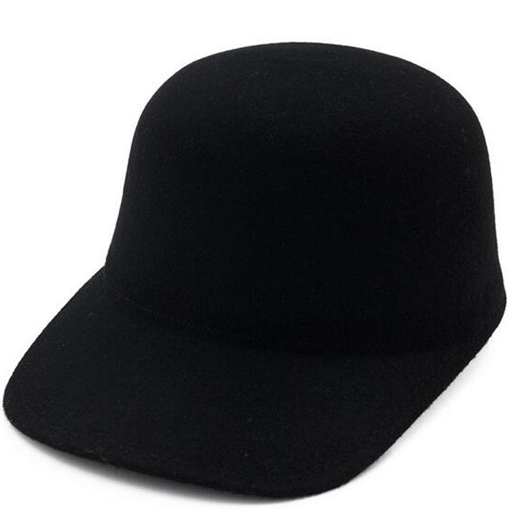 Otoño e invierno Modelos femeninos Gorra de caballero Sencillo Moda temperamento sombrero , black