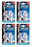 4 x Pack Of 2 Eveready Night Light Replacement Spare Bulbs 7W E14 Screw Cap F