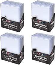 """BCW (100-4 Packs of 25) BCW Brand Trading Card Toploaders - 3"""""""